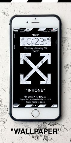 """Off-White™ """"OFF-WHITE"""" """"WALLPAPER"""" """"IPHONE"""" """"壁紙 """" """"TYPE A"""""""