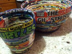 Bowls Made From Old Comic Books