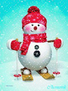 Animated Christmas Tree, Merry Christmas Gif, Christmas Scenes, Christmas Wishes, Christmas Snowman, Christmas And New Year, Kids Christmas, Southern Christmas, Christmas Paintings