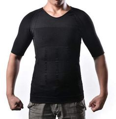 17e45bd5a6 AGPtek - Men s Body Shaper For Men Slimming Shirt Tummy Waist lose Weight Compression  Shirt Size  M - Walmart.com