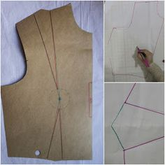 JuliaBobbin: Tutorial: How To Move Darts without slashing your pattern. Seems simple enough until half way down the directions. Sewing Lessons, Sewing Blogs, Sewing Basics, Sewing Tutorials, Sewing Hacks, Sewing Tips, Techniques Couture, Sewing Techniques, Pattern Cutting