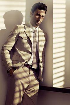 Good looking summer suit by Salvatore Ferragamo