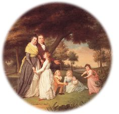 The Artist and His Family ~ 1795 ~ James Peale ~ Wikipedia Rococo, Philadelphia Museum Of Art, Painting Still Life, National Gallery Of Art, American Revolution, Family Portraits, Child Portraits, Natural History, Artist