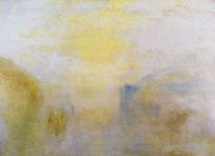 Turner, Joseph Mallord William: Sonnenaufgang, mit einem Boot zwischen Landspitzen (Sunrise, with a Boat between Headlands)