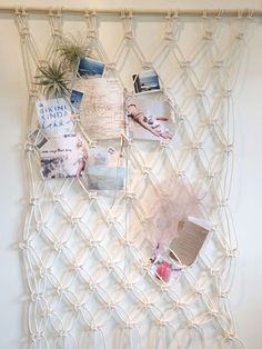 Learn how to make this DIY macramé wall hanging to display all of your sandy inspirations.                                                                                                                                                                                 More