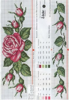 Really nice Cross-Stitch towel flowers patterns. Cross Stitch Bookmarks, Cross Stitch Rose, Cross Stitch Borders, Cross Stitch Flowers, Cross Stitch Charts, Cross Stitch Designs, Cross Stitching, Cross Stitch Embroidery, Hand Embroidery