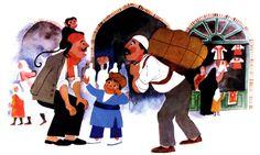 """From the Book """"Khaneye Rahim Agha Kojast?"""", Illustrated by Parviz Kalantari - 1985"""