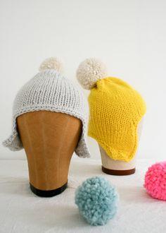 Knitted Ear Flap Hats