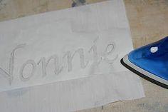 fabric stencil diy