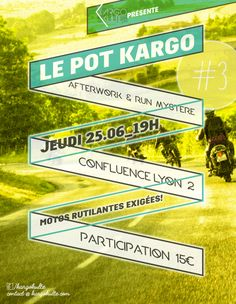 """Le """"Pot Kargo"""", an event that we organize monthly in Lyon France.Subscription: https://www.facebook.com/events/1591744244409521/ Le """"Pot Kargo"""", an event that we organize monthly in Lyon France. Subscription: https://www.facebook.com/events/1591744244409521/"""
