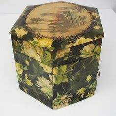 old vintage Antique dresser powder box  Celluloid Plastic