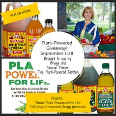 September Plant-Powered Giveaway: Bragg Gift Box + Plant-Powered for Life @sharonpalmerRD, #bragg
