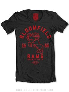 "The Bloomfield Rams - $28.99    ""I remember my grandfather telling me about playing on the South Side's semipro team as a defensive end and trying unsuccessfully to sack the quarterback for the Bloomfield Rams, a Steelers cut-list casualty named Johnny Unitas. I know Unitas is now forever associated with that awful city in Maryland but he's from the 412 and we should reclaim him with a Bloomfield Rams t-shirt."" - Chris T.    Done."