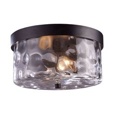 Grand Aisle 2 Light Outdoor Flushmount In Weathered Charcoal 42253/2