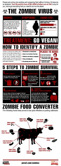 Other Infographics - Zombie Infographic. The Zombie Virus. Flesh Is For Zombies. Zombie Survival Guide, Zombie Apocalypse Survival, Survival Food, Survival Tips, Survival Skills, Wilderness Survival, Apocalypse Des Zombies, The Walking Dead, Camping 4 Etoiles