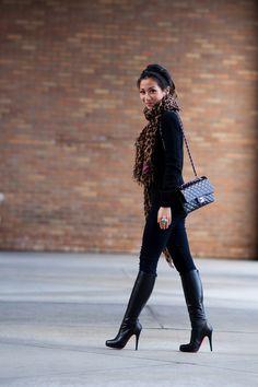 Wendy Nguyen :: Cashmere & Leopard scarf