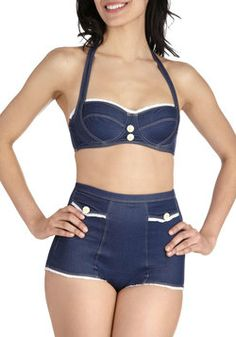 Fave Denim Swimmies Two Piece, #ModCloth. Love this too!!!