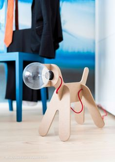 Eno Studio - Get out dog lamp red wire - Lampe à poser Get Out Dog fil rouge