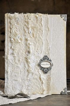 Here is a Guest Book for a wedding, made from the subtle A Day in May papers.Have a nice day!EwaPion products:A Day in May - Beige ornament PD4409 frontA Day in May - Beige ornament PD4409  back