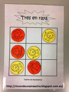 Rincón de una maestra: Matemáticas divertidas: Tres en raya