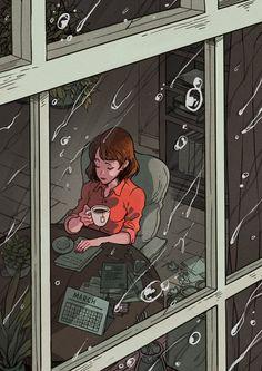55 New Ideas For Beautiful Art Drawings Feelings Illustrations Art And Illustration, Illustrations, Cartoon Kunst, Anime Kunst, Cartoon Art, Girl Cartoon, Art Du Croquis, Art Mignon, Anime Scenery