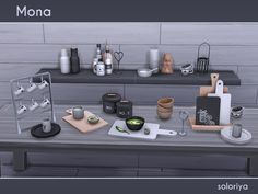 The Sims Resource: Mona kitchen clutter by Soloriya • Sims 4 Downloads