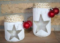 Glazen potje versieren Jar Crafts, Bottle Crafts, Diy And Crafts, Crafts For Kids, Christmas Jars, Christmas Time, Christmas Crafts, Christmas Decorations, Mason Jar Projects