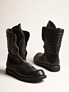 Rick Owens Men's Zipped Military Boots