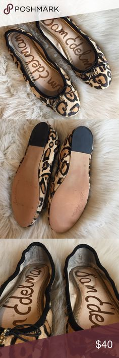 Sam Edelman Felicia Leopard Print Flats In great gently used condition. Minimal wear on backside and inner heel area (picture 3 & 4) Sam Edelman Shoes Flats & Loafers