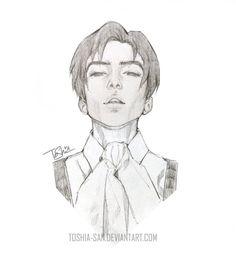 Levi Ackerman | sketch by Toshia-san.deviantart.com on @DeviantArt