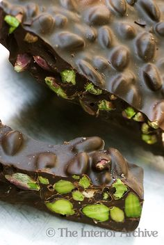 80% fondant chocolate with Bronte pistachios.. absolutely #yummy #sicily #food! by Corrado Assenza