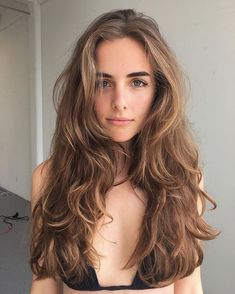 25 Top Looks Hairstyles for spring and summer : Creative Vision Design Haircuts For Wavy Hair, Long Layered Haircuts, Haircut For Thick Hair, Long Layered Hair Wavy, Wavy Hair With Layers, Thick Long Hair, Permed Hairstyles, Long Thick Hair Hairstyles, Long Wavy Layers