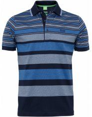 Hugo Boss Green Patrick 2 Stripe Polo Shirt