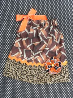 Football pillowcase dress.