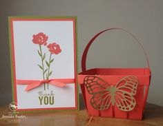 Stampin' Up! Painted Petals Card and Berry Basket, using Spring-Summer 2015 products by Amanda Fowler of Inspiring Inkin'