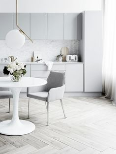 Scandinavian inspired kitchen design at it's best.