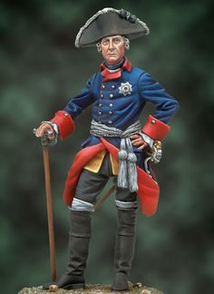 Michigan Toy Soldier Company : Andrea Miniatures - Frederick the Great 1760 Friedrich Ii, Frederick The Great, Seven Years' War, German Army, Toy Soldiers, Napoleon, Scale Models, Action Figures, Miniatures
