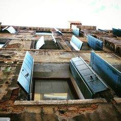 Windows in Cenie, Italy