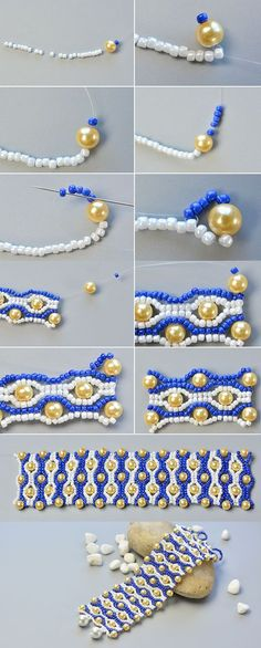 The wide beaded bracelet tutorial will be published by LC.Pandahall.com soon.