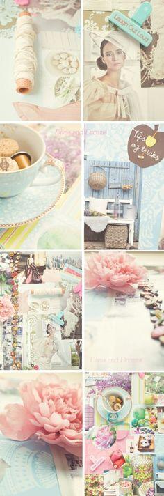 Beautiful inspiration board at divasanddreams.blogspot by rosella