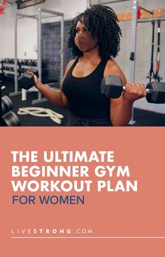 Looking for the best gym workout routines for women? Get started in the gym with this expert workout plan for beginner women with the best beginner workouts. Beginner Gym Workout Routine, Best Gym Workout, Gym Workout Plan For Women, Workout Routines For Women, Workout Plan For Beginners, Gym Workouts, Exercise Routines, Work Out Routines Gym, Strength Training Workouts
