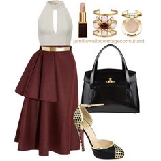 A fashion look from October 2014 featuring Roksanda Ilincic skirts, Christian Louboutin pumps and Vivienne Westwood tote bags. Browse and shop related looks.