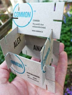 Designer Business Card stacker