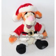 Peluche Tigrou DISNEY STORE Père Noël habit rouge 40 cm