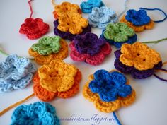 Crochet flower by Annab00, via Flickr