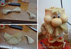 Kto to skúsi? Baby Toys, Art Dolls, Diy And Crafts, Burlap, Templates, Christmas Ornaments, Holiday Decor, Handmade, Gifts
