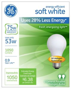 Energy Saving Halogen Light Bulbs Facts