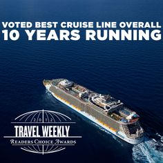 Travel Weekly readers voted Royal Caribbean International the Best Overall Cruise Line for the 10th consecutive year! Click to read about more awards won.