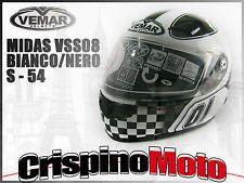 CASCO INTEGRALE VEMAR MODELLO MIDAS VSS08 BIANCO/NERO TAGLIA S 54