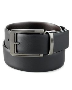 Perry Ellis Men's Iron Man Classic Dress Belt, Black, 34 at Amazon Men's Clothing store: Apparel Belts - 100% Leather - Dry Clean Only - Reverses from black to brown - Perry ellis belts have 7 holes f